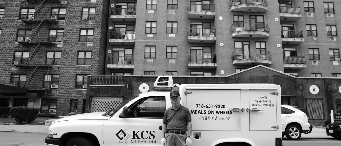 A truck making its daily deliveries of meals to homebound seniors.